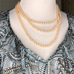 """Jewelry - Long beads - creamy color 29 1/2"""" long"""